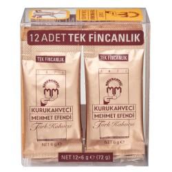 KuruKahveci Mehmet Efendi - Kurukahveci Mehmet Efendi Türk Kahvesi 6 g x 12 Adet