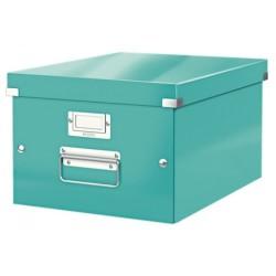 Leitz - Leitz Click & Store Orta Boy Kutu Metalik Buz Mavisi