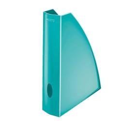 Leitz - Leitz WOW Plastik Kutu Klasör Metalik Buz Mavisi