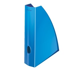 Leitz - Leitz WOW Plastik Kutu Klasör Metalik Mavi