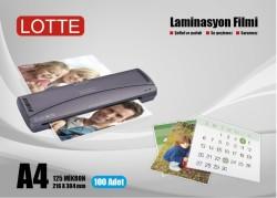 Lotte - Lotte Laminasyon Filmi A4 125 Mikron 100'lü Kutu
