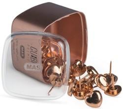 Mas - Mas Cubbie Premium Kalp Harita Çivisi - Rose Gold