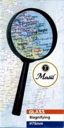 Masis - Masis Plastik Çerçeveli Saplı Büyüteç 75 mm.