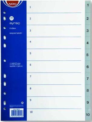 Noki Separatör A4 1-10 Rakam