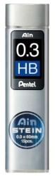 Pentel - Pentel Hi-Polymer 0.3mm HB Ain Stain Min