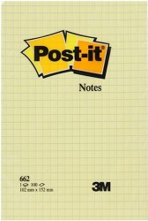 Post-it - Post-it® 662 Not Kağıdı Kareli Sarı 102x152mm