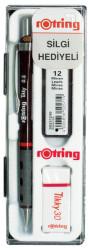 Rotring - Rotring Tikky Okul Seti 0.5mm Versatil+Min Silgi Hediyeli - Bordo