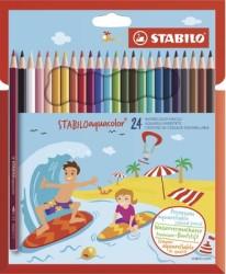 Stabilo - Stabilo Aquacolor Sulandırılabilir Kuru Boya Kalemi 24'lü