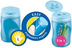 Stabilo - Stabilo Easysharpener Kalemtıraş Mavi - Sol El (3 delikli&hazneli)