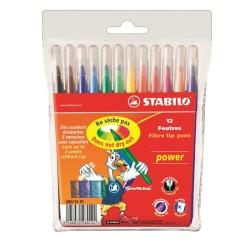 Stabilo - Stabilo Power Keçeli Kalem 12 li Paket