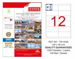 Tanex - Tanex Laser Etiket 100x46mm