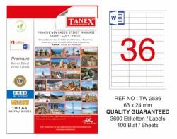 Tanex - Tanex Laser Etiket 63x24mm