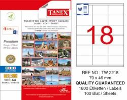 Tanex - Tanex Laser Etiket 70x46mm