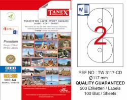 Tanex - Tanex Laser Etiket CD 117mm