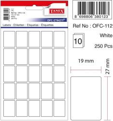 Tanex - Tanex Ofis Etiketi 19x27mm Beyaz