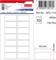 Tanex - Tanex Ofis Etiketi 19x40mm Beyaz