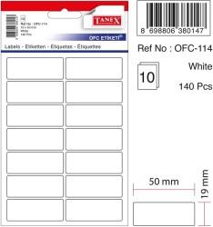 Tanex - Tanex Ofis Etiketi 19x50mm Beyaz
