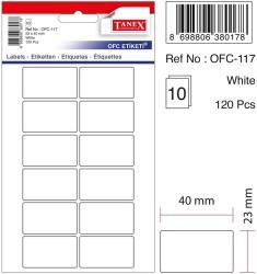 Tanex - Tanex Ofis Etiketi 23x40mm Beyaz