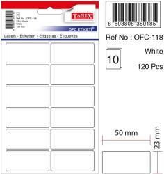 Tanex - Tanex Ofis Etiketi 23x50mm Beyaz
