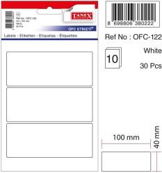 Tanex - Tanex Ofis Etiketi 40x100mm Beyaz