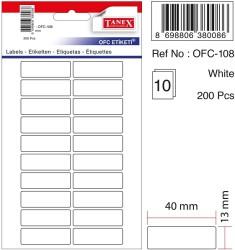 Tanex - Tanex Ofis Etiketi 40x13mm Beyaz