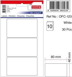 Tanex - Tanex Ofis Etiketi 48x80mm Beyaz