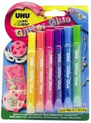 Uhu - Uhu YC Glitter Glue - Simli Yapıştırıcı Pırıltılı Pastel Renk