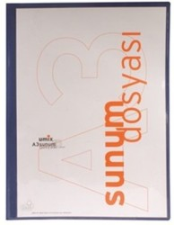 Umix - Umix Önden Cepli Sunum Dosyası A3 10'lu Lacivert