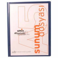 Umix - Umix Önden Cepli Sunum Dosyası A5 10'lu Lacivert