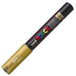 Uni-Ball - Uni PC-1M Posca Renkli Poster Markörü (0.7 mm) Altın