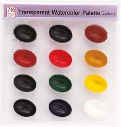 Zig - Zig Suluboya Pigment Palette WSKG301-2 12 Renk