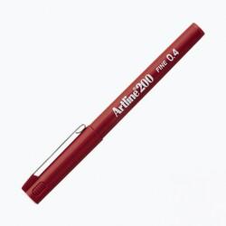 Artline - Artline 200 Fineliner 0.4 mm Çizim Kalemi Kırmızı