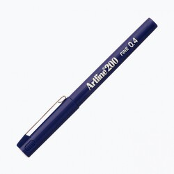 Artline - Artline 200 Fineliner 0.4 mm Çizim Kalemi Mavi