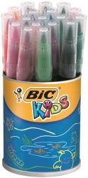 Bic - Bic Visa Fırça Uçlu Keçeli Kalem 18'li