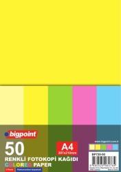 Bigpoint - Bigpoint A4 Renkli Fotokopi Kağıdı 5 Renk 50'li Paket