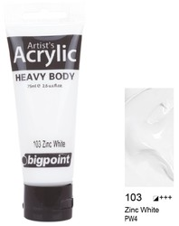 Bigpoint - Bigpoint Akrilik Boya 75 ml Zinc White 103