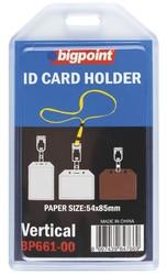 Bigpoint - Bigpoint Kart Kabı Dikey Şeffaf 54x85mm