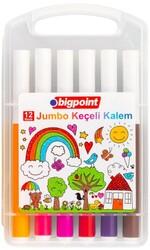 Bigpoint - Bigpoint Jumbo Keçeli Kalem 12'li Set (Plastik Kutulu)