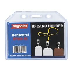 Bigpoint - Bigpoint Kart Kabı Yatay Şeffaf 85x54mm