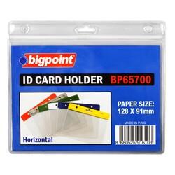 Bigpoint - Bigpoint Kart Poşeti Yatay Şeffaf 128x91mm 100'lük