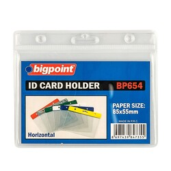 Bigpoint - Bigpoint Kart Poşeti Yatay Şeffaf 85x55mm