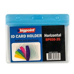 Bigpoint - Bigpoint Korumalı Kart Poşeti Yatay Mavi 85x55mm
