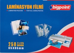 Bigpoint - Bigpoint Laminasyon Filmi 65x95mm 125 Mikron 100 Lük