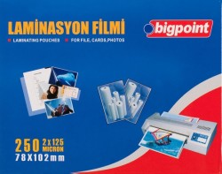 Bigpoint - Bigpoint Laminasyon Filmi 78x102mm 125 Mikron 100 Lük