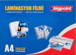 Bigpoint - Bigpoint Laminasyon Filmi A4 125 Mikron 100 Lük
