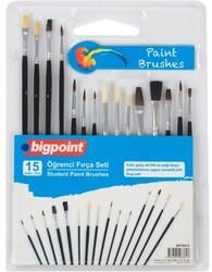Bigpoint - Bigpoint Öğrenci Fırça Seti 15'li Blister