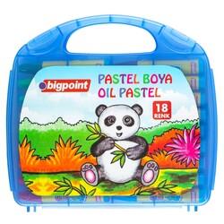 Bigpoint - Bigpoint Pastel Boya 18 Renk - Mavi Çantalı