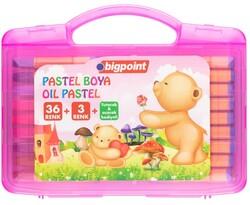 Bigpoint - Bigpoint Pastel Boya 36+3 Renk - Pembe Çantalı