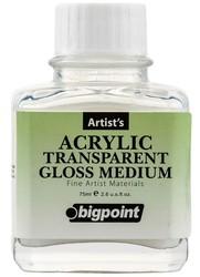 Bigpoint - Bigpoint Şeffaf Parlak Medyum 75 ml (Akrilik Boya)