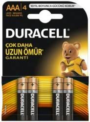Duracell - Duracell LR03/MN2400 Alkalin AAA İnce Kalem Pil 4'lü